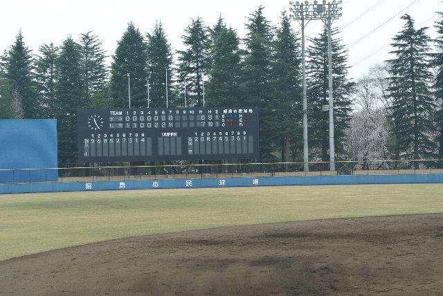 高校野球の試合で選手名を出すのはベスト16くらいから。昭島で選手名表示がされることは稀ってことか?