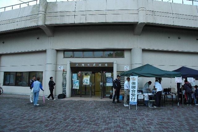 入口上の球場名表記は「藤岡市民球場」となっている。