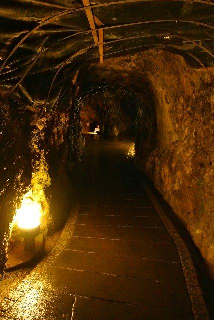 暑い日は鍾乳洞か坑道を歩くに限る(笑)。