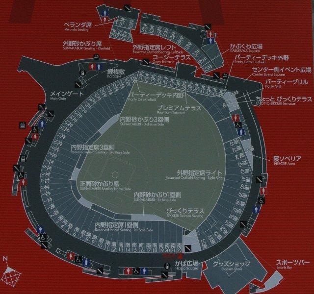 3階部分はメインコンコースを通って、球場全体をぐるっと一周できます。