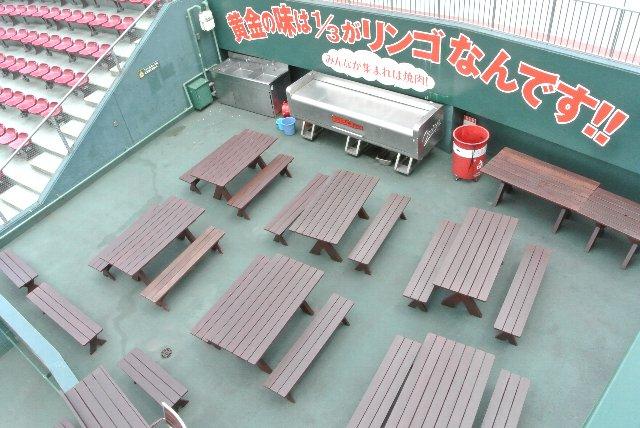 焼肉を食べながらの野球観戦、球場から声を掛けて実現したのか?、エバラさんが売り込んだのか?