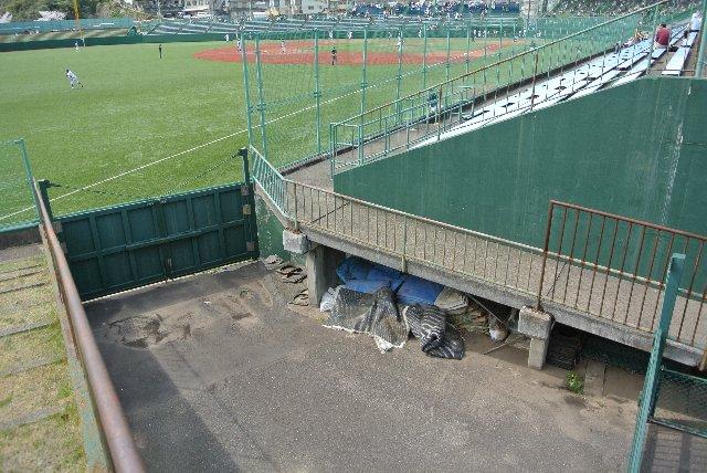 このゲートが開けば、三塁側⇔レフト側の行き来は容易となる。