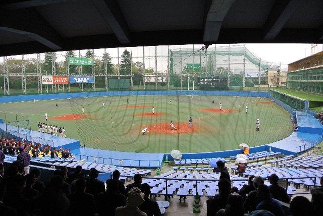 普段はゴルフ練習場として使われるが、時折、高校野球の試合で使用されます。