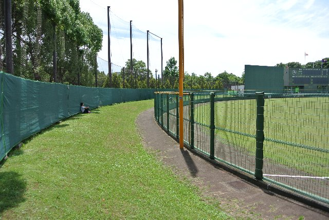 その上、グラウンドと観戦エリアを隔てるフェンスが高いというから困ったもんだ。