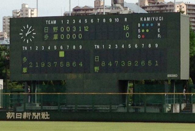 高校野球地区予選でも、序盤の試合のみで使用されるので選手名が表示されることは稀です。