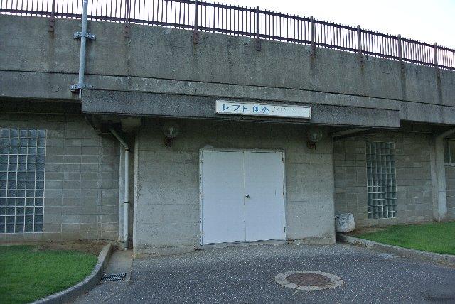 レフト側、ライト側双方にこのようなゲートが設けられている。外野席⇔内野席、ライト側⇔レフト側の行き来は出来ない仕様。