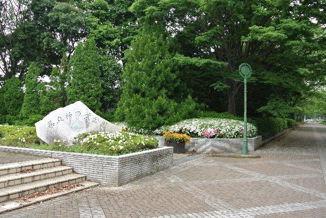 柏の葉キャンパス駅に最も近い南側の入口。公園脇の並木道が美しい。