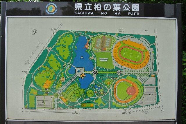 サッカー場や野球場といったスポーツ施設は北側に集中している。