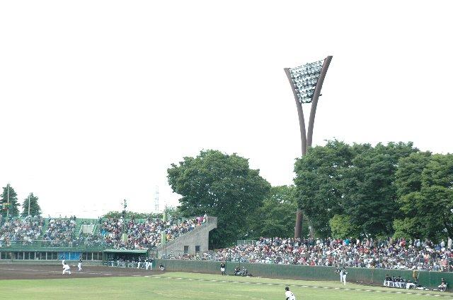 ネット裏の一部を除いて、内外野席のほとんどが芝生席というのは、NPBが使用する球場では珍しい部類に入ります。