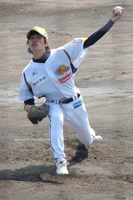 今年の福井ミラクルエレファンツのドラフト1位の好投手だそうです。