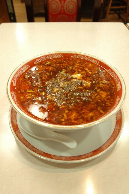 陳健一直伝の麻婆麺、伊達ぢゃないくらい辛かった。