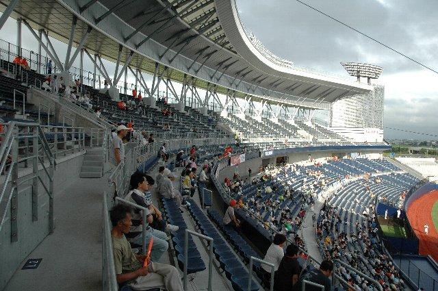 BCリーグの試合で二階席を開放してくれたのは嬉しかったな。サッカースタジアムの雰囲気に近いなぁ...と思いました。