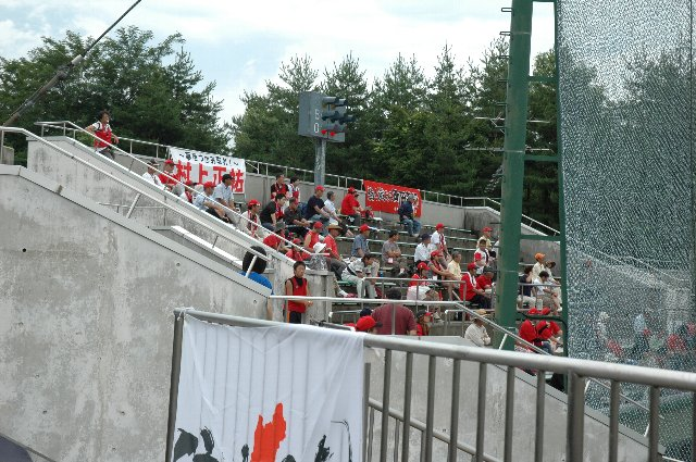2009.07.18の試合では、このエリアだけ1000円高い料金を設定していました。