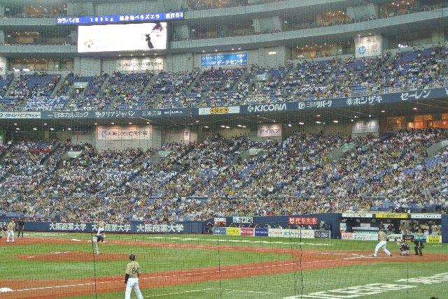 京セラドーム大阪の内野席、臨場感があって見やすかったですよ。