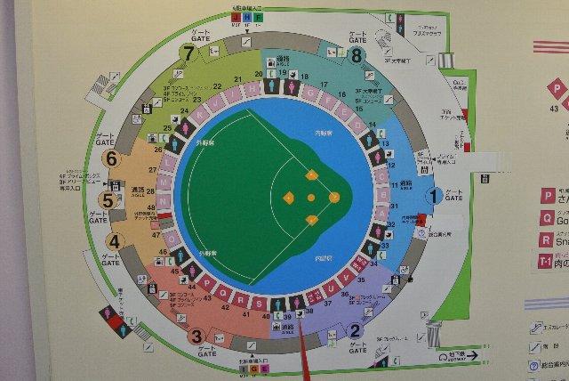 2番ゲートを入ってすぐの場所で見かけた館内案内図。