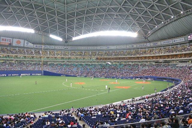 ホームまでは遠いが、上段付近に陣取ると球場全体を見渡せる感じが良い。