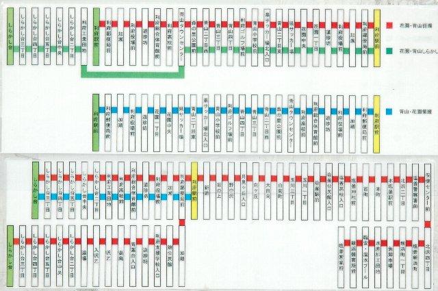 しらかし台団地に行くバスと、利府駅の周りを循環するバスの二系統があります。
