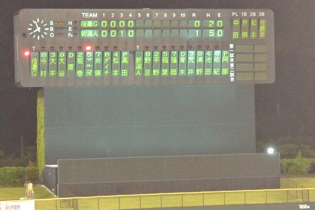新潟主催試合で久々に見る選手名表記。