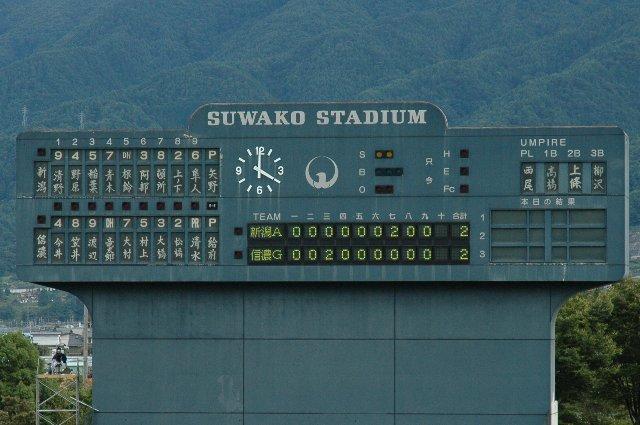 最近、得点表示部のみLEDや電光表示にするスタジアムって多いですよね。