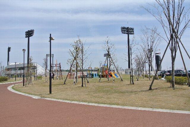 非常にゆったりと作られた公園であることがわかります。