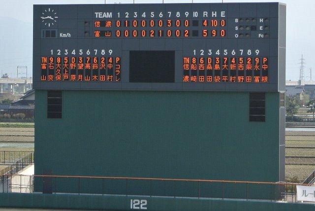 NPBファーム公式戦を誘致したい割には、審判名表示が無かったり、打率や本塁打の表示が無かったり...と片手落ちの感は否めない。