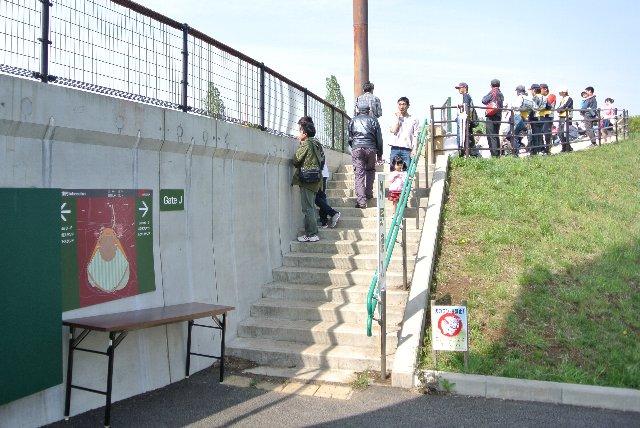 途中から入場券を持っていなくてもフリーパスの状況だったな(笑)。