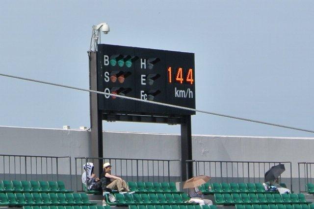球速表示付きなのが特徴でしょうか。