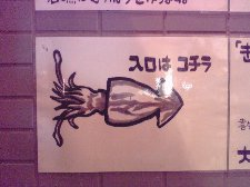この他にも魚を描いた沢山の絵が貼られています。