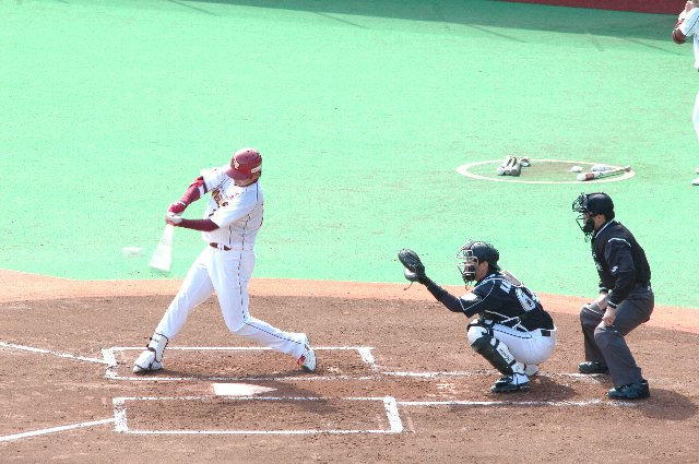 球を捕えた瞬間の画像が本塁打って、結構嬉しかったりする。