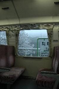 小海駅周辺が最も雪が深かったでしょうか。