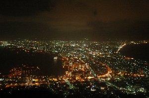 やっぱり、函館の夜景は綺麗だわ。