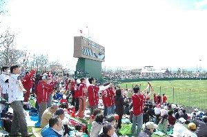 この一角を除いて、大半は日公ファンの完全アウェーな環境が逆に心地よかった。