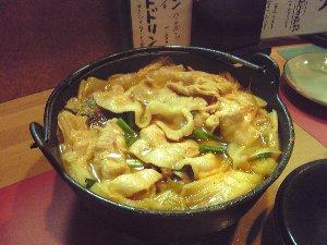 辛みの効いた美味しいちゃんこ鍋です。