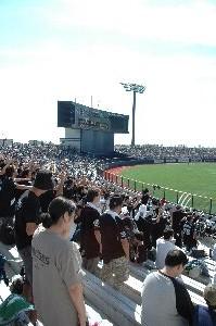 昨夜のCS進出を決めた試合後、千葉の応援団が新潟までやって来たようです。