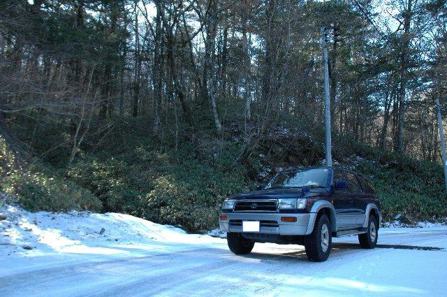 紅葉を楽しむ予定で出掛けたのですが、雪に出会えるとは...。