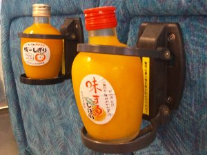 「味まるしぼり」と「味一しぼり」、県特産のみかんを丸ごと使った美味しいジュースです。