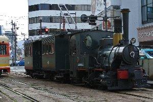 機関車の顔をしてるが、よ〜く見るとパンタグラフの付いたれっきとした「電車」