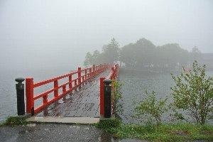 標高1000メートルと越える場所にあり、冷たい雨が降る中の参拝は寒さが堪えた。
