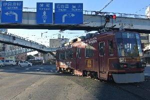 豊橋市ではまだまだ路面電車が健在です。