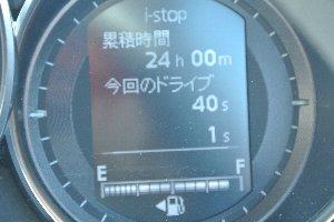 21800km走って、ようやく24時間のアイドリングストップ達成。もう少し早く達成できると思っていた。