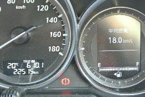 この数値が帰宅時にどこまで減っているのか? 少なくとも17.0km/Lは死守したいところだ。