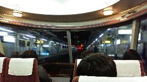 ロマンスカートとは言え、通勤列車なので意外と展望席が空いているんです。