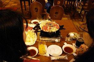 ジンギスカン鍋が北海道の形をしています。