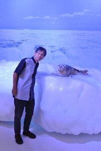 今夏の北海道は寒い、まだ流氷が残っている。