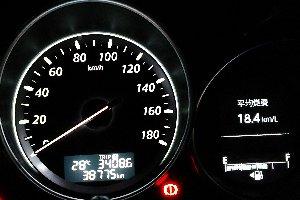 目標の平均燃費には遠く及びませんでした。