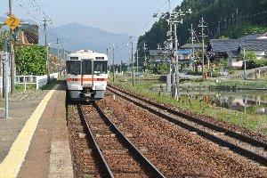 下呂と飛騨萩原駅に挟まれた小駅です。