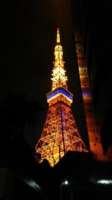 芝公園周辺で間近に見ていた東京タワー、角度を変えると趣がまた変わる。
