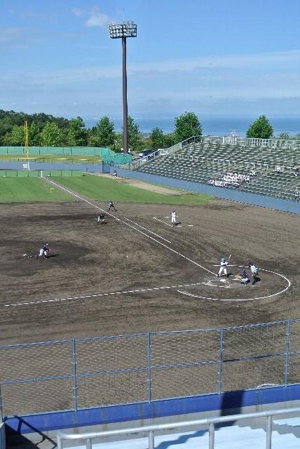 選手達もアップ時などに球場から海が見えることを確認しているはずです。