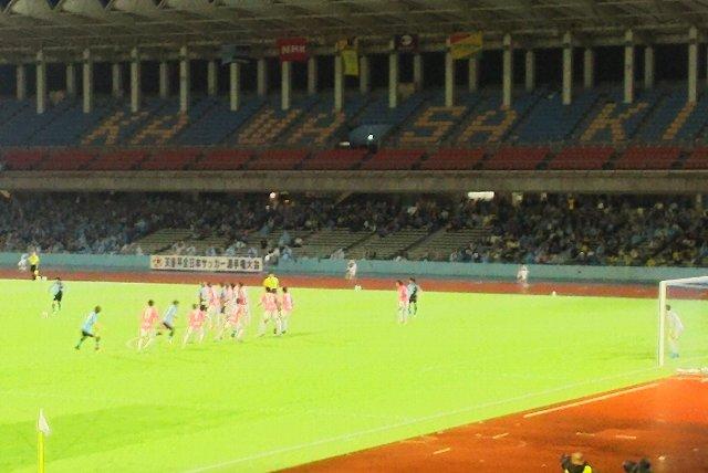 武蔵中原駅からはっきり識別できる競技場、等々力だとは知らなかった。