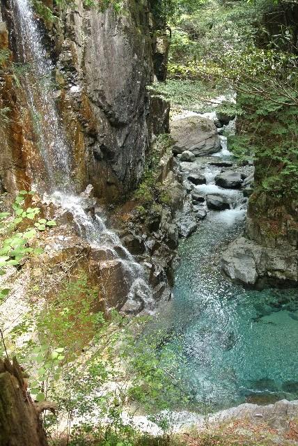 阿寺渓谷ほどではないが、付知ブルーもなかなか。